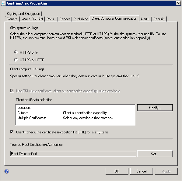 Client Settings for SCCM